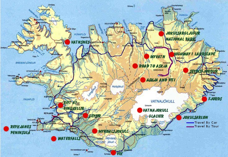 Iceland Travel Maps Online Map – Tourist Map Iceland
